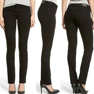 NWOT DL1961 Black Hail Grace Straight Jeans 24
